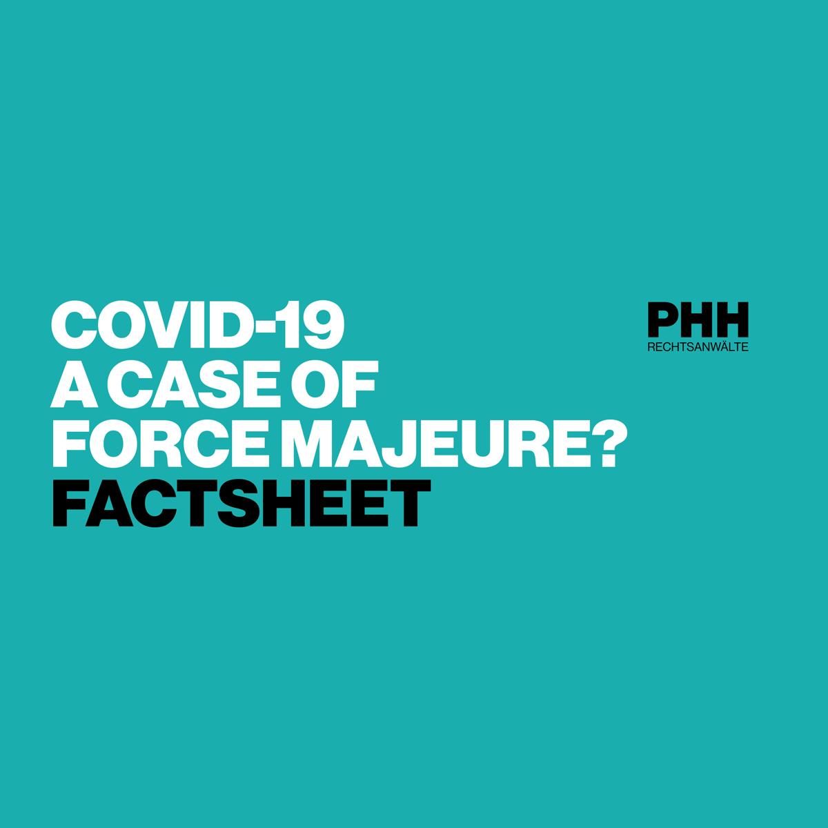 COVID-19: Ein Fall von höherer Gewalt?