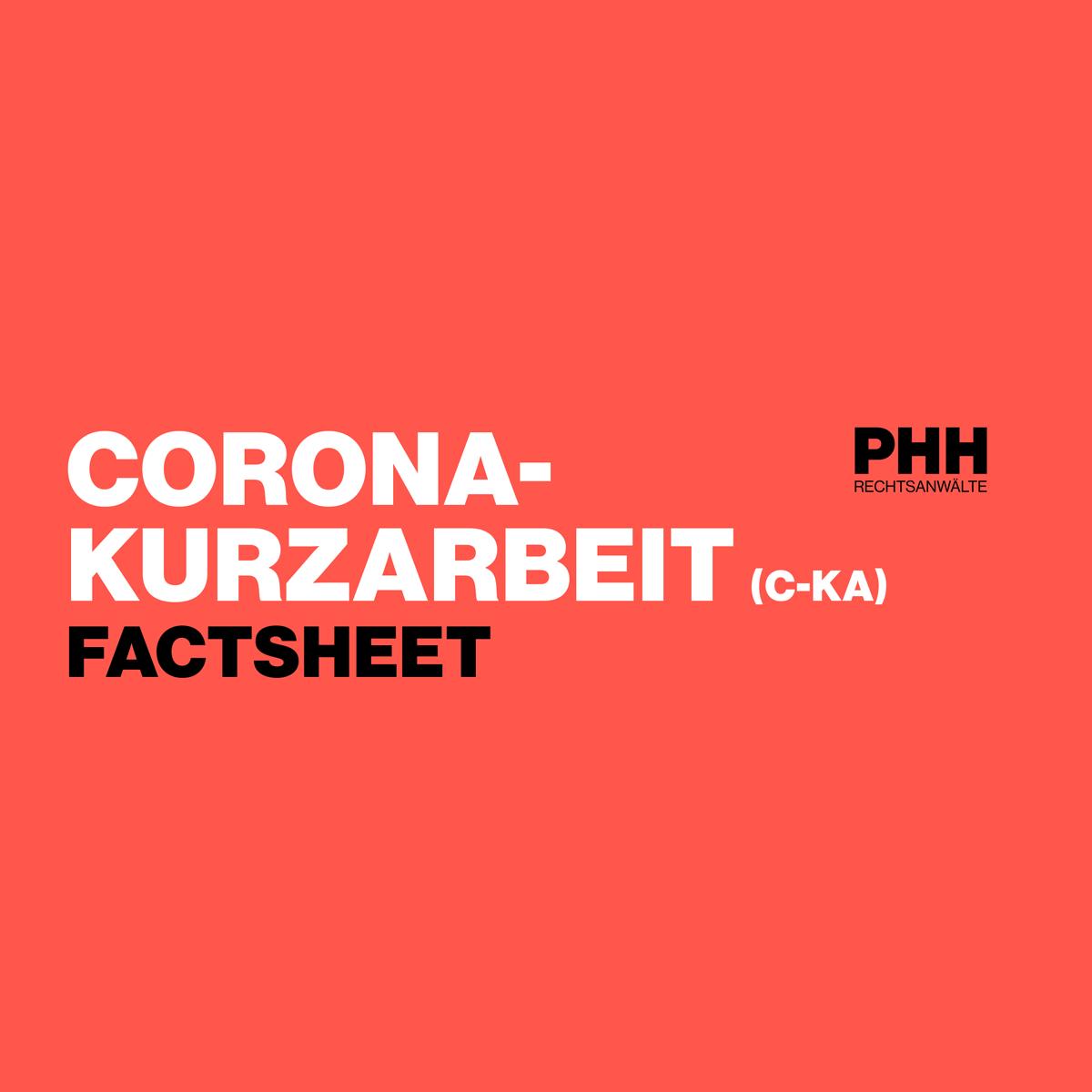 COVID-19: Keyfakten zur Corona-Kurzarbeit