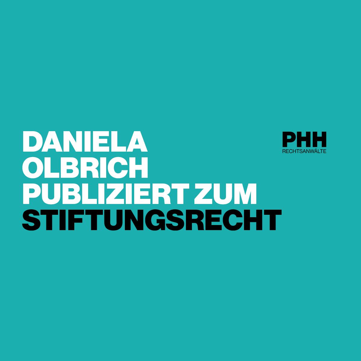 Daniela Olbrich publiziert zum Stiftungsrecht